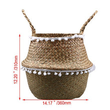 Load image into Gallery viewer, Decorative Handmade Seagrass Woven Storage Basket