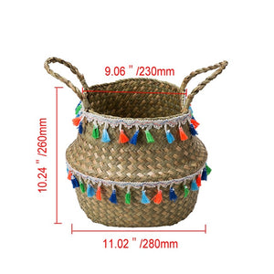 Decorative Handmade Seagrass Woven Storage Basket