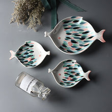Load image into Gallery viewer, Kissing Fish  Shape Porcelain Dinner, Dessert, Fruit Plate