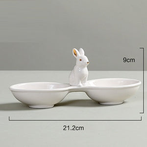 Porcelain Tableware Snack Plate, Jewelry Plate