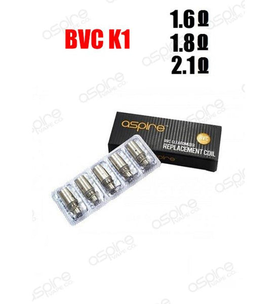 Aspire - BVC K1 Replacement Coils (5-pack)
