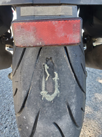 How to destroy a tyre in one easy lesson!
