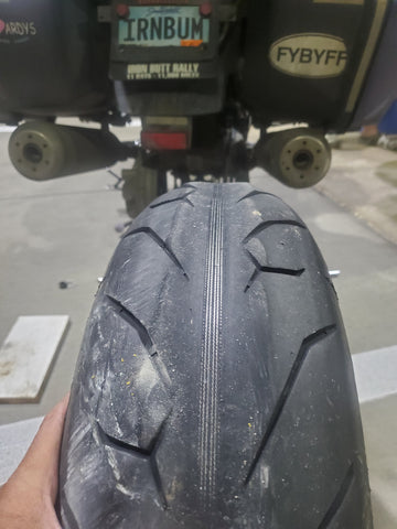 Riding on tyres like this is NOT recommended!