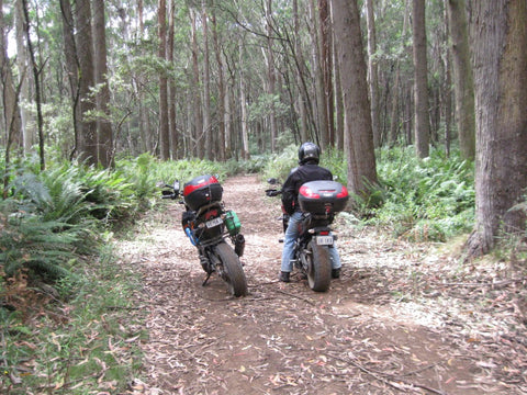 Off-road riding near Mount Macedon, Victoria, Australia