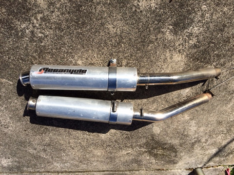 Used Megacycle mufflers for sale to fit Yamaha TDM900 2005
