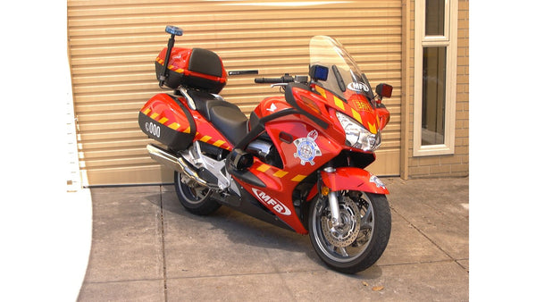 Where in the world is MCCruise?........The Metropolitan Fire Brigade promo bike at the MCCruise factory in Oz.