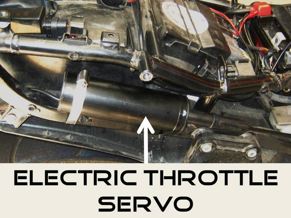 Electric throttle servo mounting