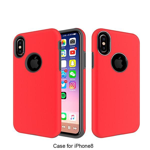2 in 1 Durable Double Phone Case For iPhone 8