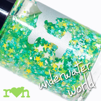 Underwater World Glitter Topper