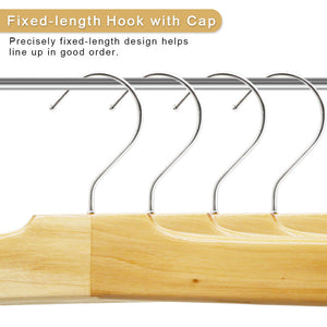 Perfecasa Natura Wooden Pants Hangers 10 Pack