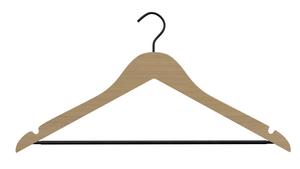 Perfecasa Natural Wooden Hangers 20 Pack Hook Upgraded