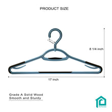 Load image into Gallery viewer, Perfecasa Cool Gery Plastic Hangers 30 Pack with 360° Swivel Hook
