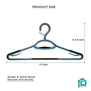 Perfecasa Cool Gery Plastic Hangers 30 Pack with 360° Swivel Hook