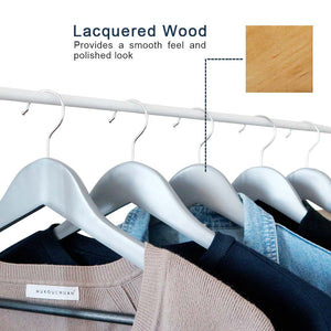 Perfecasa Gray Wooden Hangers 20 Pack