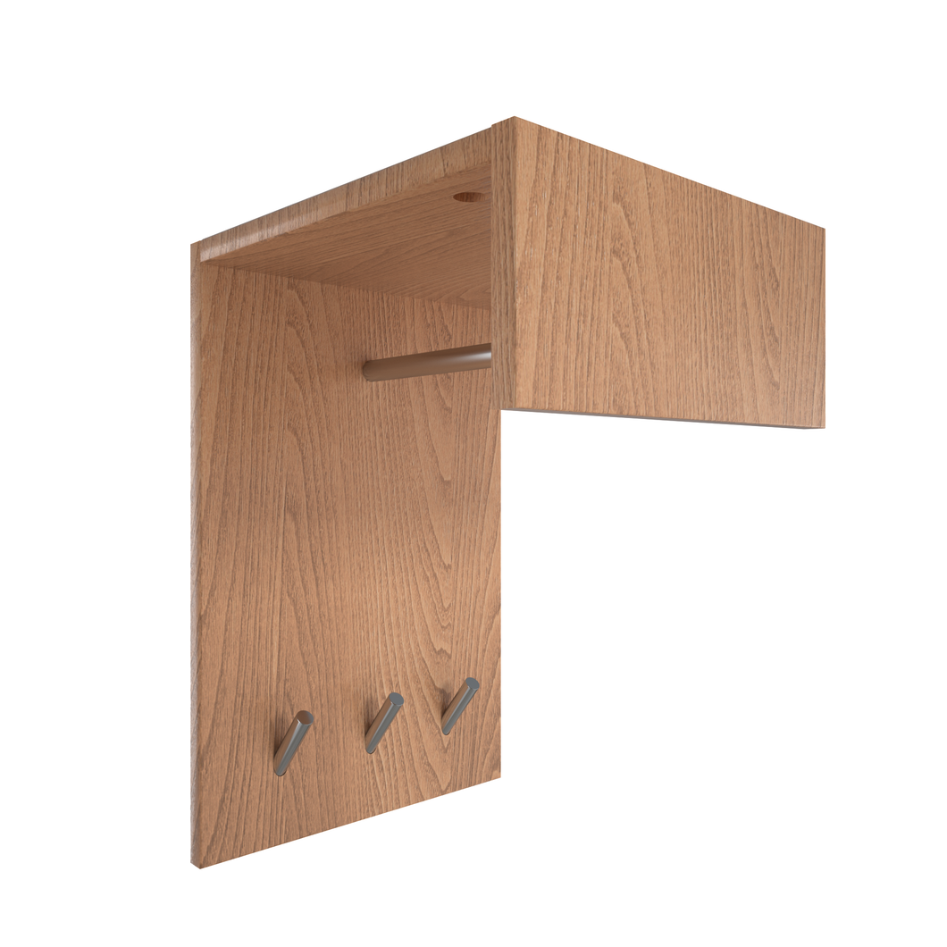 Perfecasa Natural Wall Mounted Coat Rack