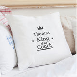 Personalised King of the Couch Cushion Cover - Shop Personalised Engraved Gifts & Customised Cufflinks | From Willow