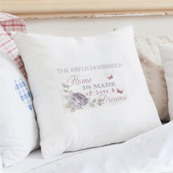 Secret Garden Cushion Cover - Shop Personalised Engraved Gifts & Customised Cufflinks | From Willow