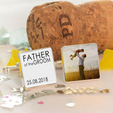 Personalised Photo Father of the Bride Square Cufflinks - Shop Personalised Engraved Gifts & Customised Cufflinks | From Willow