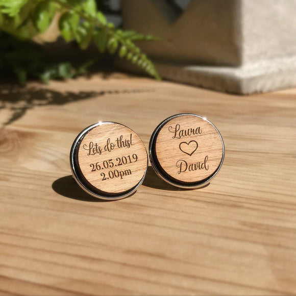 Personalised Lets Do This Groom Cufflinks - Shop Personalised Engraved Gifts & Customised Cufflinks | From Willow