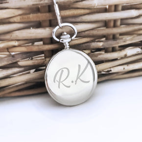 Personalised Engraved Initials Pocket Watch - Shop Personalised Engraved Gifts & Customised Cufflinks | From Willow