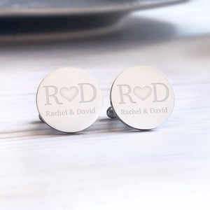 Personalised Engraved Bride to Groom Wedding Cufflinks - Shop Personalised Engraved Gifts & Customised Cufflinks | From Willow
