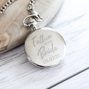 Personalised Engraved Father of the Bride Pocket Watch - Shop Personalised Engraved Gifts & Customised Cufflinks | From Willow