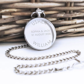 Personalised Wedding Party Role Engraved Pocket Watch - Shop Personalised Engraved Gifts & Customised Cufflinks | From Willow