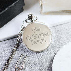 Personalised Engraved Pocket Watch Your Custom Text - Shop Personalised Engraved Gifts & Customised Cufflinks | From Willow