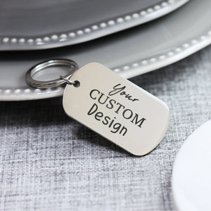 Personalised Engraved Steel Black Message Keyring - Shop Personalised Engraved Gifts & Customised Cufflinks | From Willow