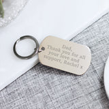 Personalised Engraved Steel Natural Message Keyring - Shop Personalised Engraved Gifts & Customised Cufflinks | From Willow