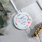 Personalised First Christmas Marriage Mr and Mrs Ceramic Keepsake Ornament - Shop Personalised Engraved Gifts & Customised Cufflinks | From Willow