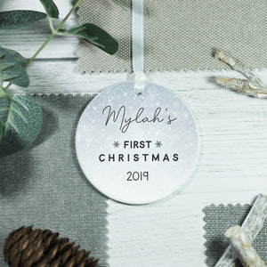 Personalised First Christmas New Baby Ceramic Keepsake Ornament - Shop Personalised Engraved Gifts & Customised Cufflinks | From Willow