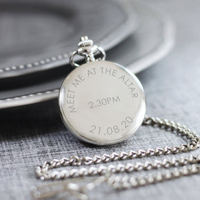 Personalised Meet Me At The Altar Pocket Watch - Shop Personalised Engraved Gifts & Customised Cufflinks | From Willow
