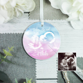 Personalised Baby Scan Ceramic Keepsake Decoration - Shop Personalised Engraved Gifts & Customised Cufflinks | From Willow