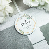 Personalised Baby's First Christmas New Baby Ceramic Keepsake Decoration - Shop Personalised Engraved Gifts & Customised Cufflinks | From Willow