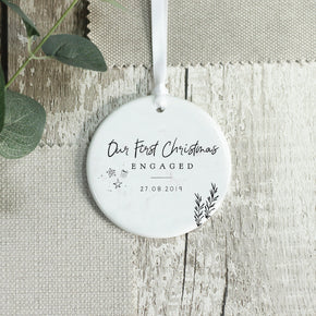 Personalised Engaged Ceramic Keepsake Ornament - From Willow | Personalised Gifts