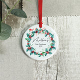 Personalised New Baby First Christmas Ornament Keepsake - Shop Personalised Engraved Gifts & Customised Cufflinks | From Willow