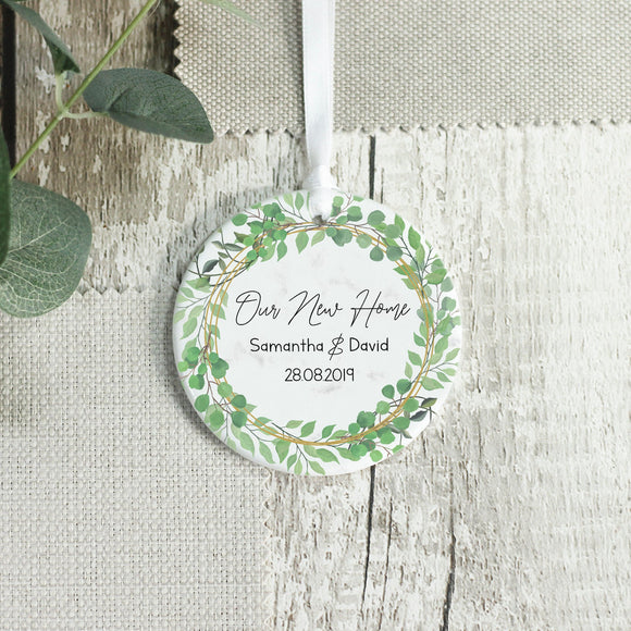 Personalised Our New Home Keepsake Ceramic Ornament - Shop Personalised Engraved Gifts & Customised Cufflinks | From Willow