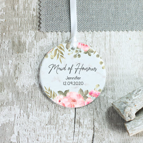 Personalised Maid of Honour Bridesmaid Ceramic Keepsake Ornament - Shop Personalised Engraved Gifts & Customised Cufflinks | From Willow