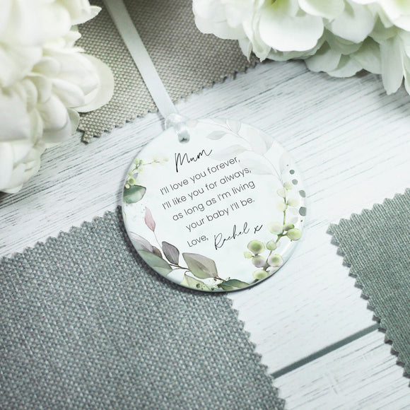 Personalised Mother of the Bride Keepsake Ceramic Ornament - Shop Personalised Engraved Gifts & Customised Cufflinks | From Willow