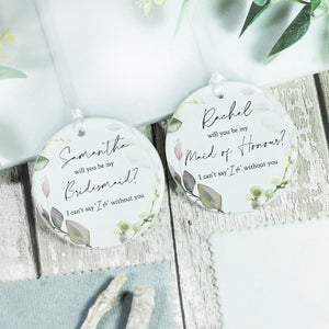 Personalised Will You Be My Bridesmaid Ceramic Decoration - Shop Personalised Engraved Gifts & Customised Cufflinks | From Willow