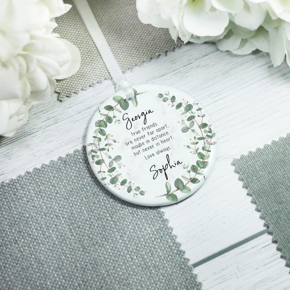 Personalised True Friends Quote Ornament Keepsake - Shop Personalised Engraved Gifts & Customised Cufflinks | From Willow