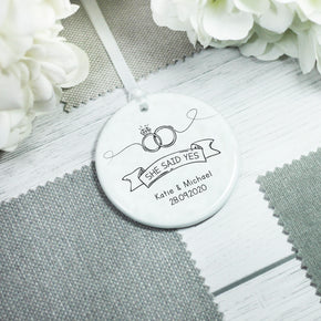 Personalised Engagement She Said Yes Keepsake - From Willow | Personalised Gifts