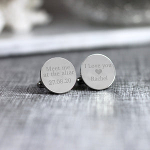 Personalised Engraved Meet Me At The Altar Groom Cufflinks - Shop Personalised Engraved Gifts & Customised Cufflinks | From Willow