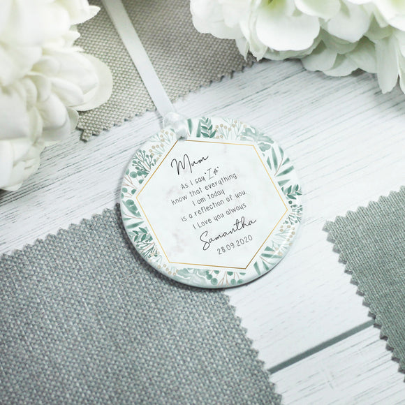 Personalised Mother of the Bride Special Quote Ceramic Keepsake - Shop Personalised Engraved Gifts & Customised Cufflinks | From Willow