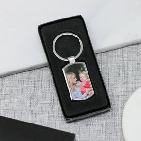 Personalised Photo Keyring, Silver Photo Keyring - From Willow | Personalised Gifts