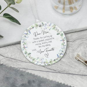 Personalised Floral Ceramic Mother's Day Keepsake Gift - Shop Personalised Engraved Gifts & Customised Cufflinks | From Willow