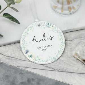 Personalised Baby's 1st Easter Decoration, Ceramic Easter Gift - Shop Personalised Engraved Gifts & Customised Cufflinks | From Willow