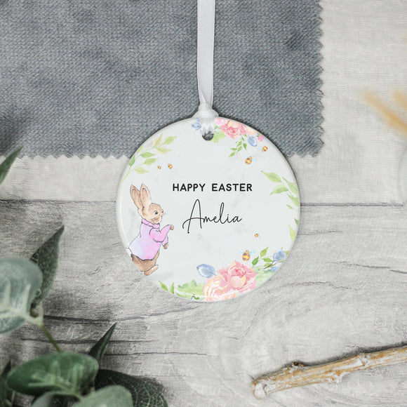 Personalised Baby's 1st Easter Decoration, Bunny Rabbit Easter Decoration Gift - Shop Personalised Engraved Gifts & Customised Cufflinks | From Willow