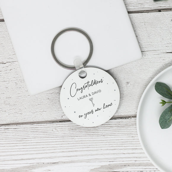 Personalised New Home Keyring Congratulations Gift - Shop Personalised Engraved Gifts & Customised Cufflinks | From Willow
